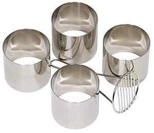Mermaid Stainless Steel Food Ring Mate and 4 Food Rings