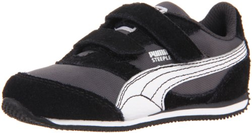 Puma Steeple V Sneaker (Toddler/Little Kid/Big Kid),Black/White/Dark Shadow,6 M US Toddler