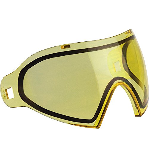 Dye I4 Replacement Thermal Lense For Paintball Mask / Goggles - Amber