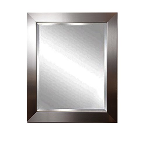 American Made Rayne Silver Petite Beveled Wall Mirror, 32 X 36 front-433334
