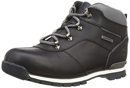 Timberland Splitrock 2 - Stivali Uomo, Black Smooth with Grey, taglia 39.5