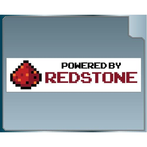 Amazon.com: POWERED BY REDSTONE Funny MINECRAFT Bumper Sticker