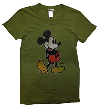 Mickey Mouse Vintage Solid T-Shirt - Moss (Small)
