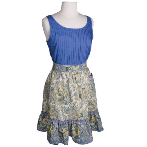 April Cornell Duchess Blue Skirt Apron