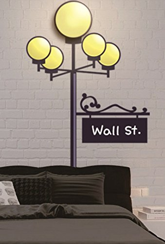 Dream Wall Wall Decal with Night Light, Wall Street by Night