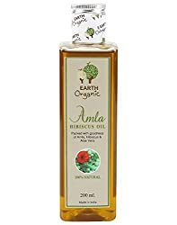 Earth Organic Amla Hibiscus Hair Oil, 200 ml