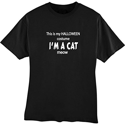 This is My Halloween Costume I'm A Cat Meow Adult T Shirt