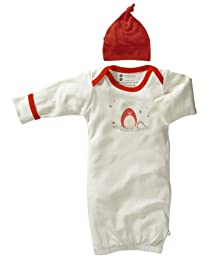 Babysoy Organic Layette Gown Newborn Gift Set, Neutral Baby (3-6 Months, Penguin)