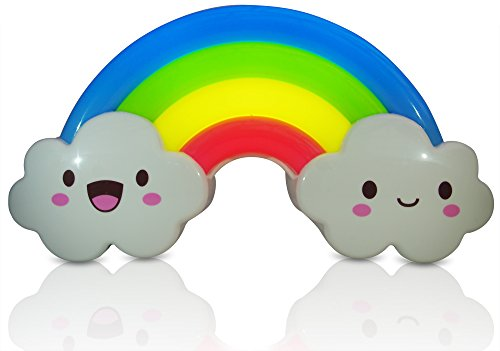 Baby Night Light Lamp for Toddler Kids & Children Rainbow Design Activated By Sound Sensor Wall Decoration Makes Perfect Baby Shower Gift - 1