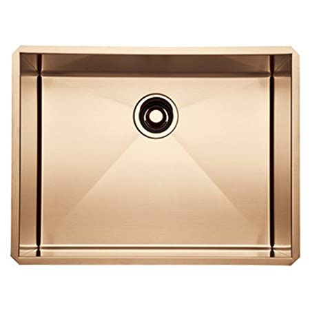 Rohl RSS2418SC 24-Inch Kitchen Sink with Tangent Edge, Stainless Copper