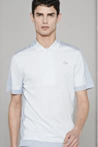 Men's Fashion Show Short Sleeve Pique Two Tone Polo