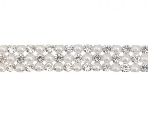 Sale!! Pearl Rhinestone Banding (3 Row) By Shine Trim
