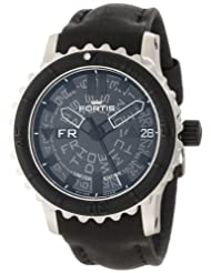 Discounted Fortis Men's 675.10.81 L.01 B-42 Big Black Automatic Rotating Bezel Leather Watch Special offer