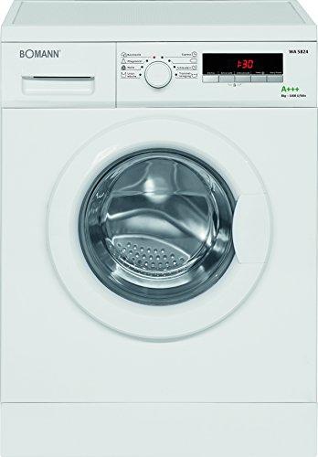 Bomann WA 5724 Waschmaschine FL / A+++ / 151 kWh/Jahr / 1400 UpM / 7 kg / 9966 Liter/Jahr / 15 Programme + Zusatzoptionen / weiß