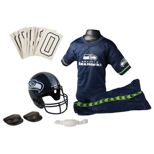 NFL Seattle Seahawks Deluxe Youth Uniform Set, Medium at Amazon.com