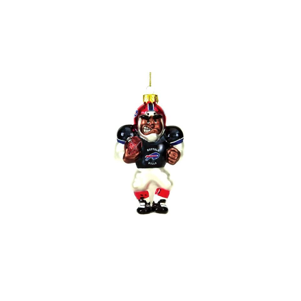 BSS   Buffalo Bills NFL Glass Player Ornament (5 African