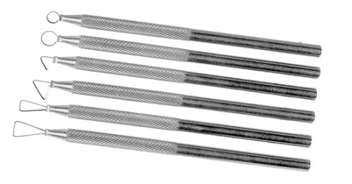 Sculpting Tool Set Has Aluminum Handles and Steel Blades For Shaping Clay (Set of 6) from National Artcraft