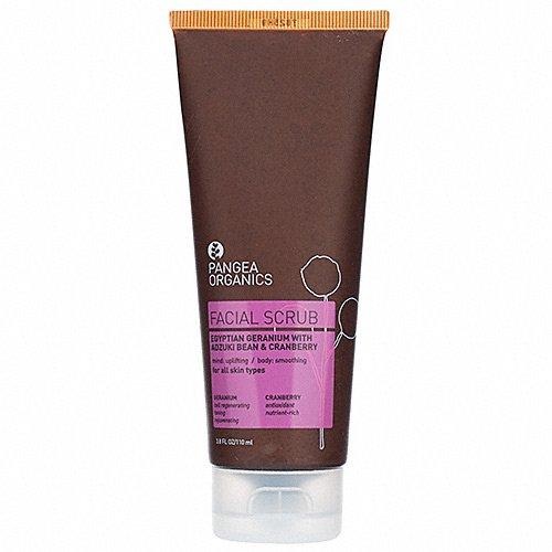 Pangea Organics Facial Scrub, Egyptian Geranium With Adzuki Bean & Cranberry, 4Ounce Box