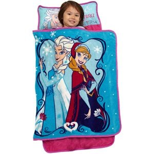 Disney Frozen Elsa & Anna Personalized Toddler Nap Mat - 1