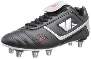 Kooga Men's Harrier LCST Boots - Black/Grey/Red, Size 8