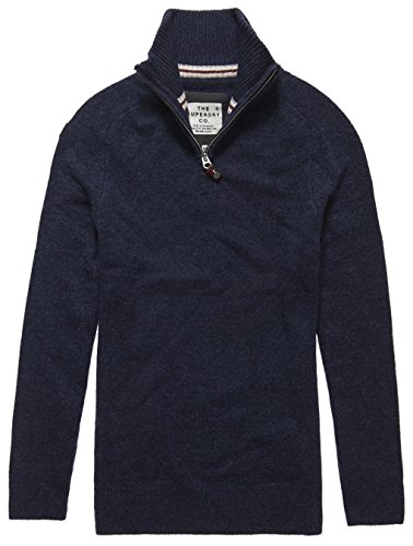 SUPERDRY Harrow Henley, Top Uomo, Dark Indigo/Navy Twistxeg, L