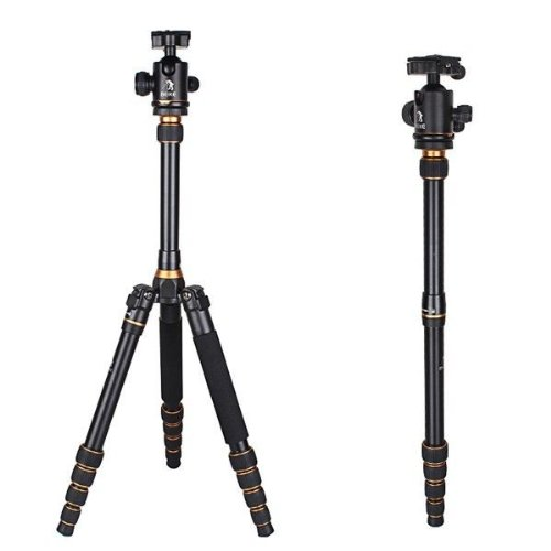 Signstek Professional Magnesium Alloy 180° Folded Detachable Design Tripod Monopod with Ball Head for DSLR