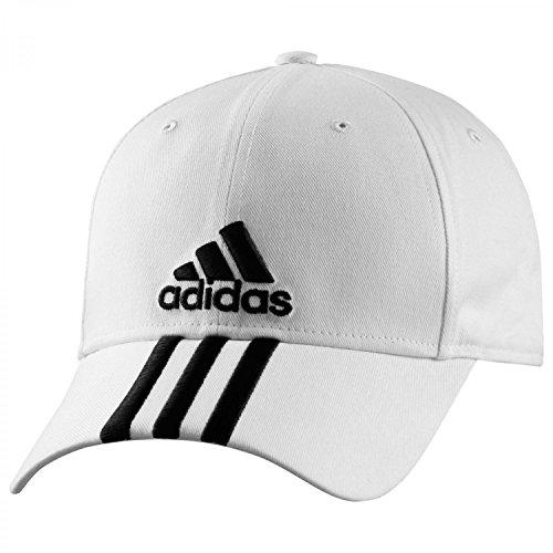 adidas corsa cappello 3S Performance Cap, Bianco (Bianco/Nero), Da uomo