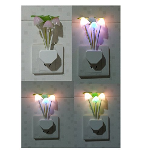 """""""Aiqite"""" """"Rabbit And Plant On The Wall"""" Led Night Light With Photosentive Switch (Plant And Flower)"""