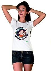 Main Apni Favourite Hoon White Girls Tshirt
