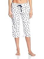 Carl Ross Pantalón de Pijama (Blanco / Azul Marino)