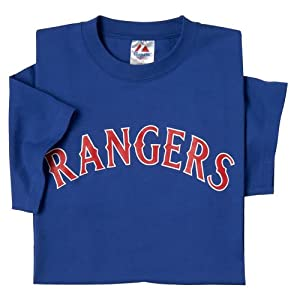 Texas Rangers (YOUTH LARGE) 100% Cotton Crewneck MLB Officially Licensed Majestic... by Majestic