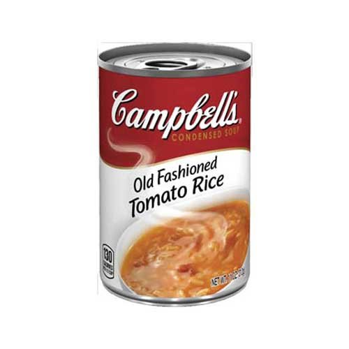 Campbells Condensed Old Fashioned Tomato Rice Soup - 11 oz. can, 12 per case