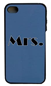Mashed Cases – Mrs. (Black) – Black & Indigo Blue Rubber Case for Apple iPhone 5