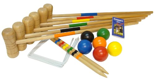 Bex Sport   - Croquet Wooden - Juego de Croquet de madera 6 mallet
