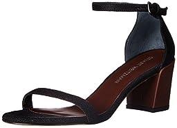 Stuart Weitzman Women\'s Simple Heeled Sandal, Black, 9 M US