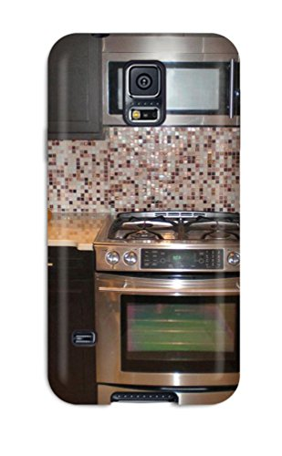 Premium Kitchen Cooktop With Jeweled Colored Bisazza Mosaic Glass Tile Backsplash Back Cover Snap On Case For Galaxy S5 (Cooktop Premium compare prices)