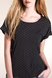 Limited Collection Scoop Neck Spot Print Jersey T-Shirt [T62-4843I-S]