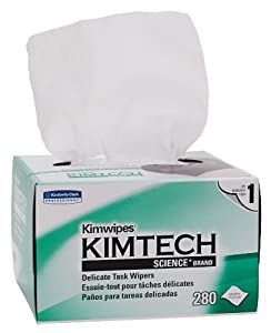 Kimberly-Clark 34155 Kimtech Science Kimwipes Delicate Task Disposable Wiper, 8-25/64