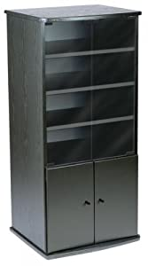 LS Series Black Oak Cabinet with Glass Doors LS-A201