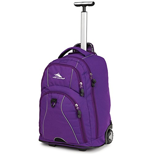 High Sierra Freewheel Wheeled Book Bag Backpack,20.5 X 13.5 X 8-Inch,Deep Purple front-467665