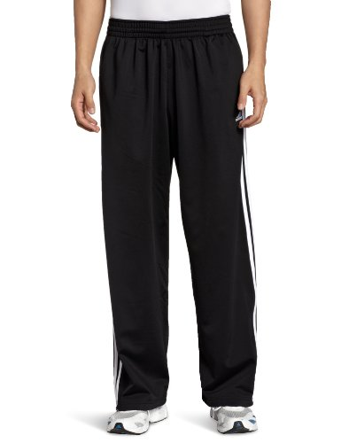 adidas Men's 3-Stripe Pant, Black/White, Medium