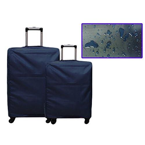多サイズ スーツケース防水防塵用カバー 旅行携帯用 24インチ ブルー