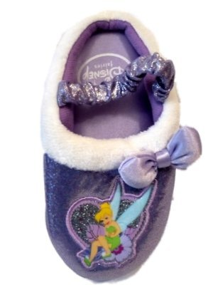 Cheap Disney Tinkerbell Toddler Sparkle Slippers Shoes Purple Size Extra Large XL (11 / 12) (B004OMI05C)
