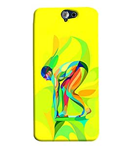 Blue Throat Multi Colour Man Printed Designer Back Cover/Case For HTC One A9