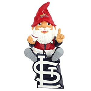 St. Louis Cardinals Forever Collectibles Gnome Sitting on Logo by Forever Collectibles