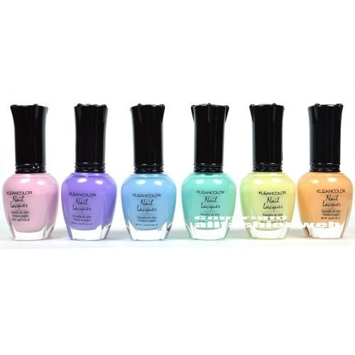 6 New Kleancolor PASTEL SUMMER COLLECTION LOT Nail Polish