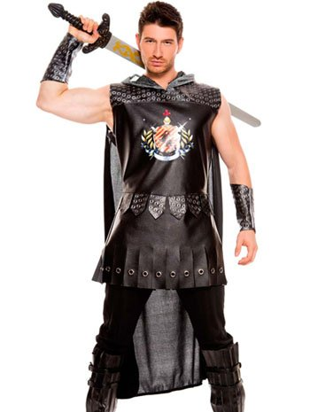 Medieval Warrior King Mens Costume - LARGE