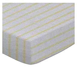 SheetWorld Fitted Cradle Sheet - Yellow Stripes Jersey Knit - Made In USA