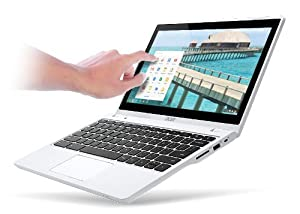 Acer C720P Chromebook (11.6-Inch Touchscreen, 2GB) Moonstone White