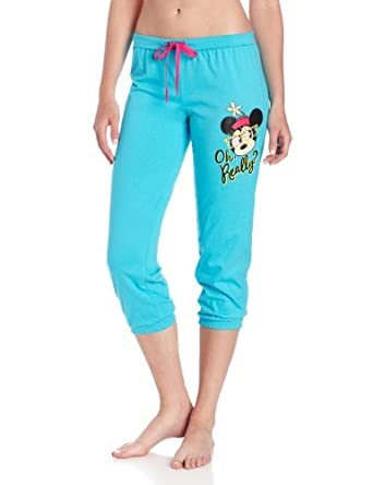 Briefly Stated Women's Mickey Mouse Slouchy Crop休闲七分裤蓝色$5.98